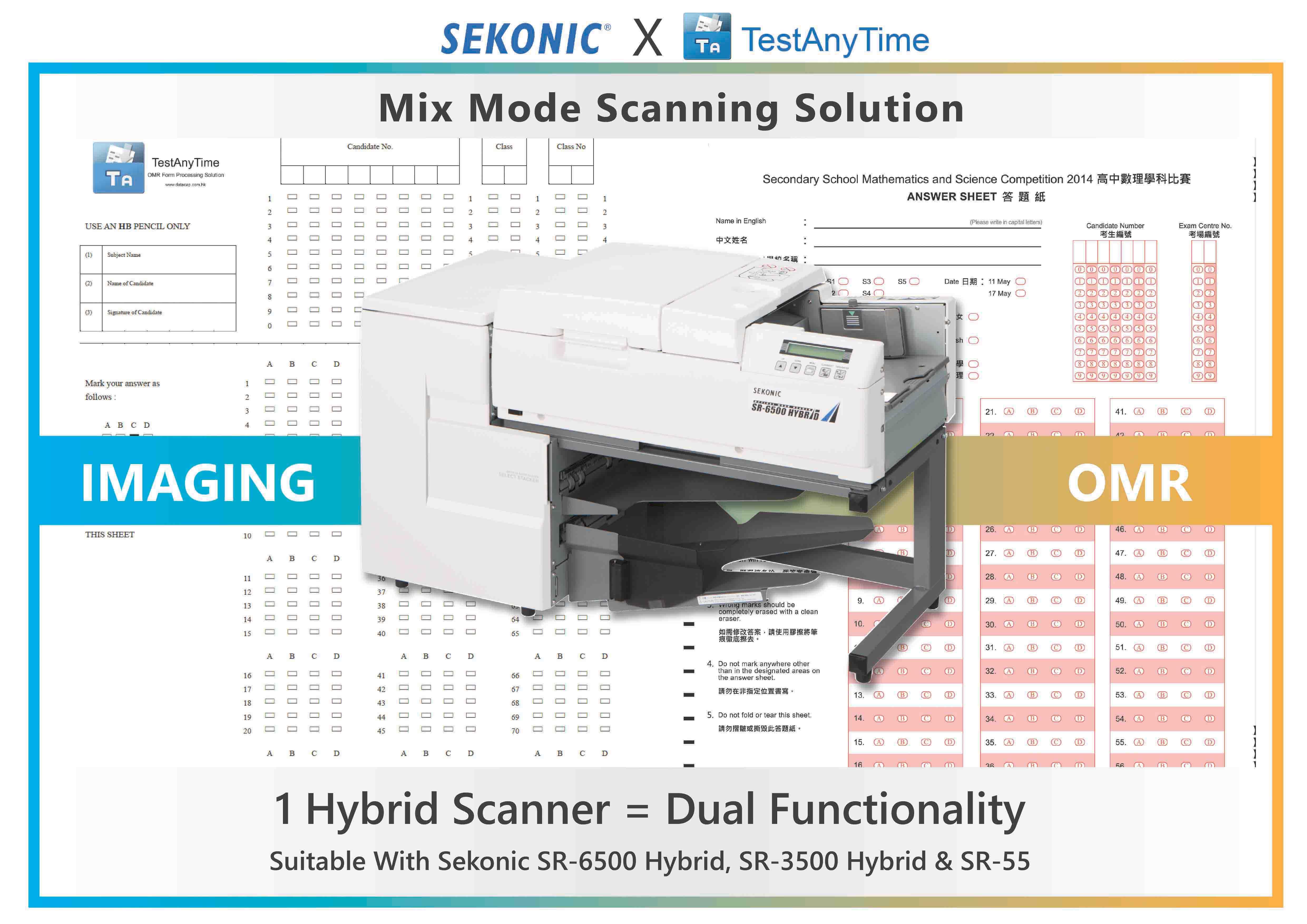 TestAnyTime & Sekonic: Mix Mode Scan (Imaging & OMR